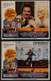 8z083 BEST LITTLE WHOREHOUSE IN TEXAS 8 LCs '82 Burt Reynolds, Dolly Parton, Dom DeLuise!