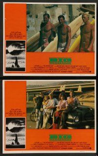 8z587 BIG WEDNESDAY 7 LCs '78 John Milius classic surfing movie, great images of surfers!