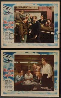 8z835 BLAZE OF NOON 3 LCs '47 circus stunt pilot William Holden & sexy Anne Baxter + Jean Wallace!