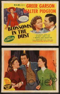 8z094 BLOSSOMS IN THE DUST 8 LCs R50 fighting lady Greer Garson, Walter Pidgeon!