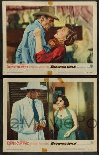 8z095 BLOWING WILD 8 LCs '53 sexy Ruth Roman takes cash from Gary Cooper's pocket!