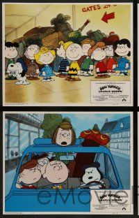 8z098 BON VOYAGE CHARLIE BROWN 8 int'l LCs '80 Peanuts, Snoopy, Charles M. Schulz cartoon!