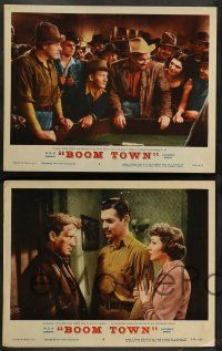 8z588 BOOM TOWN 7 LCs R56 Clark Gable, Spencer Tracy, Claudette Colbert, Hedy Lamarr