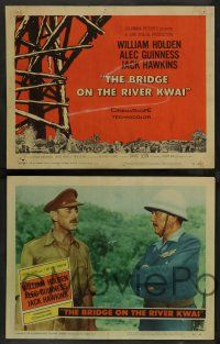 8z106 BRIDGE ON THE RIVER KWAI 8 LCs '58 William Holden about to kill Japanese, David Lean classic!