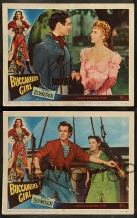 8z640 BUCCANEER'S GIRL 6 LCs '50 swashbuckler Philip Friend, sexy Yvonne DeCarlo, Elsa Lanchester!