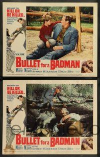 8z110 BULLET FOR A BADMAN 8 LCs '64 cowboy Audie Murphy is framed for murder by Darren McGavin!