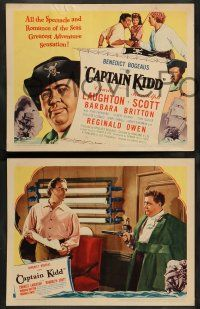 8z837 CAPTAIN KIDD 3 LCs '45 pirate Charles Laughton, Randolph Scott, Gilbert Roland, includes tc!