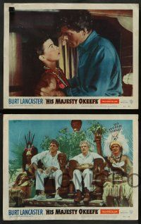 8z231 HIS MAJESTY O'KEEFE 8 LCs '54 great images of Burt Lancaster w/natives in Fiji!