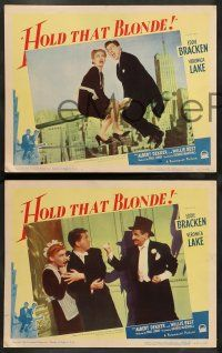 8z849 HOLD THAT BLONDE 3 LCs '45 wacky images of Eddie Bracken, Veronica Lake & Jack Norton!