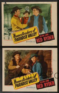 8z800 HOMESTEADERS OF PARADISE VALLEY 4 LCs '47 great images of Rocky Lane as cowboy Red Ryder!