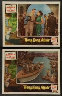 8z939 HONG KONG AFFAIR 2 LCs '58 cool images of Jack Kelly and gorgeous May Wynn!
