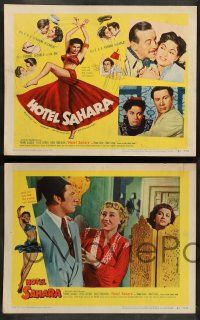 8z236 HOTEL SAHARA 8 LCs '51 full-length artwork of sexy exotic veil dancer Yvonne De Carlo!
