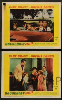 8z801 HOUSEBOAT 4 LCs '58 romantic images of Cary Grant & beautiful Sophia Loren!