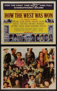 8z238 HOW THE WEST WAS WON 8 int'l LCs R69 John Ford, Hathaway & Marshall epic, all-star cast!