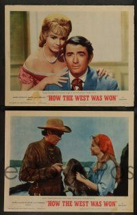 8z237 HOW THE WEST WAS WON 8 LCs '64 John Ford, Hathaway & Marshall epic, top cast!