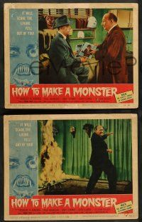 8z850 HOW TO MAKE A MONSTER 3 LCs '58 Robert Harris, AIP using past monsters from earlier movies!