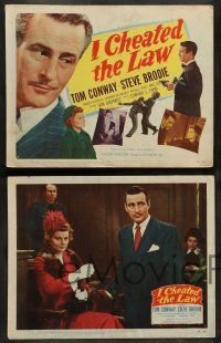 8z242 I CHEATED THE LAW 8 LCs '49 Tom Conway, Steve Brodie, Barbara Billingsley