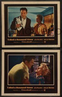 8z852 I DIED A THOUSAND TIMES 3 LCs '55 Mad Dog Earle Jack Palance & sexy Shelley Winters!
