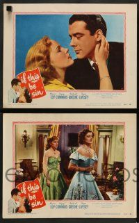 8z802 IF THIS BE SIN 4 LCs '50 romantic images of pretty Peggy Cummins & Richard Greene!