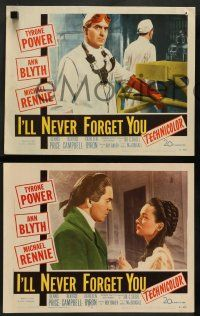 8z853 I'LL NEVER FORGET YOU 3 LCs '51 Tyrone Power, Ann Blyth & Michael Rennie!