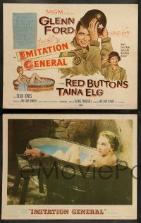 8z245 IMITATION GENERAL 8 LCs '58 soldiers Glenn Ford & Red Buttons + sexy Taina Elg!