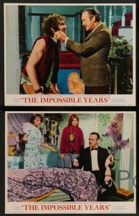 8z663 IMPOSSIBLE YEARS 6 LCs '68 David Niven, sexy Cristina Ferrare, undergrads vs. over-thirties!