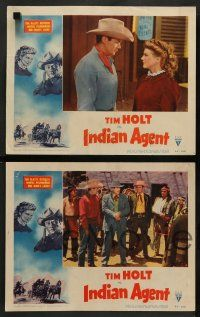8z803 INDIAN AGENT 4 LCs '48 cowboy Tim Holt goes into action on the Native Americans' side!