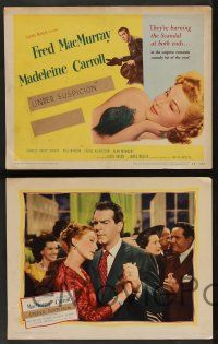 8z249 INNOCENT AFFAIR 8 LCs '48 cool images of Fred MacMurray, sexy Madeleine Carroll!