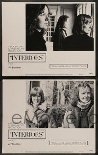 8z250 INTERIORS 8 LCs '78 Diane Keaton, Mary Beth Hurt, E.G. Marshall, directed by Woody Allen!