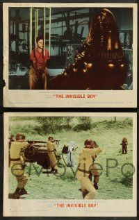 8z804 INVISIBLE BOY 4 LCs '57 Robby the Robot, Richard Eyer, cool sci-fi images!