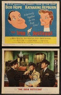 8z252 IRON PETTICOAT 8 LCs '56 great tc art of Bob Hope & Katharine Hepburn, hilarious together!