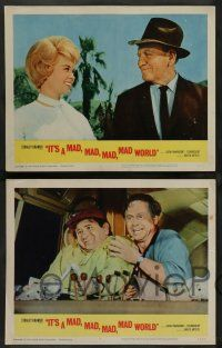 8z254 IT'S A MAD, MAD, MAD, MAD WORLD 8 LCs '64 Mickey Rooney, Spencer Tracy, many top stars!