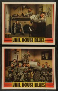 8z943 JAIL HOUSE BLUES 2 LCs '41 Nat Pendleton, Robert Paige, cool musical scene!