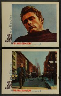 8z255 JAMES DEAN STORY 8 LCs '57 many cool images of the acting legend!