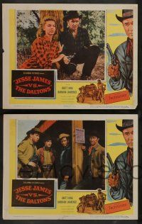 8z258 JESSE JAMES VS THE DALTONS 8 2D LCs '53 William Castle, the deadliest gunslingers of the West