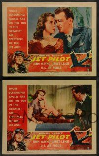 8z259 JET PILOT 8 LCs '57 big John Wayne, Cold War jets & sexy Janet Leigh, Howard Hughes!