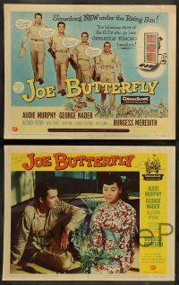 8z261 JOE BUTTERFLY 8 LCs '57 Audie Murphy, Keenan Wynn, Nader & soldiers in World War II Japan!