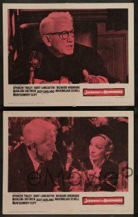8z667 JUDGMENT AT NUREMBERG 6 LCs '61 Spencer Tracy, Widmark, Schell, Lancaster, Marlene Dietrich!