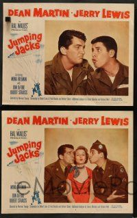 8z265 JUMPING JACKS 8 LCs '52 great images of Army paratroopers Dean Martin & Jerry Lewis!