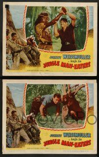 8z266 JUNGLE MAN-EATERS 8 LCs '54 Johnny Weissmuller as Jungle Jim, Karin Booth!