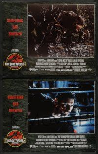 8z269 JURASSIC PARK 2 8 LCs '96 The Lost World, Steven Spielberg, something has survived!