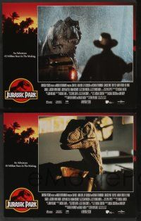 8z268 JURASSIC PARK 8 LCs '93 Spielberg, Sam Neill, Laura Dern, Jeff Goldblum, Richard Attenborough