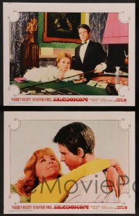 8z669 KALEIDOSCOPE 6 LCs '66 Warren Beatty, sexy Susannah York, international gambling!