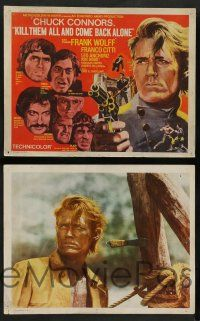 8z274 KILL THEM ALL & COME BACK ALONE 8 int'l LCs '70 Ammazzali tutti e torna solo, Chuck Connors!