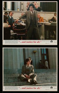 9a029 AND JUSTICE FOR ALL 8 8x10 mini LCs '79 directed by Norman Jewison, Al Pacino is out of order