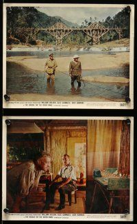 9a039 BRIDGE ON THE RIVER KWAI 8 color 8x10 stills '58 Alec Guinness, Sessue Hayakawa!