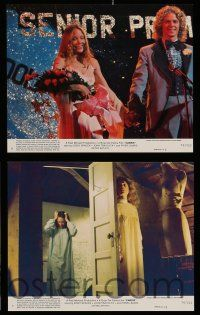 9a043 CARRIE 8 8x10 mini LCs '76 Stephen King, Sissy Spacek & crazy mother Piper Laurie!
