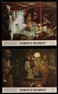 9a059 EXORCIST II: THE HERETIC 8 8x10 mini LCs '77 Linda Blair, Boorman's sequel to Friedkin movie!