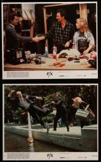 9a062 F/X 8 8x10 mini LCs '86 Bryan Brown, Brian Dennehy, is it murder or is it special effects!