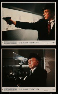 9a066 FIRST DEADLY SIN 8 8x10 mini LCs '80 Frank Sinatra's final role, Faye Dunaway, James Whitmore